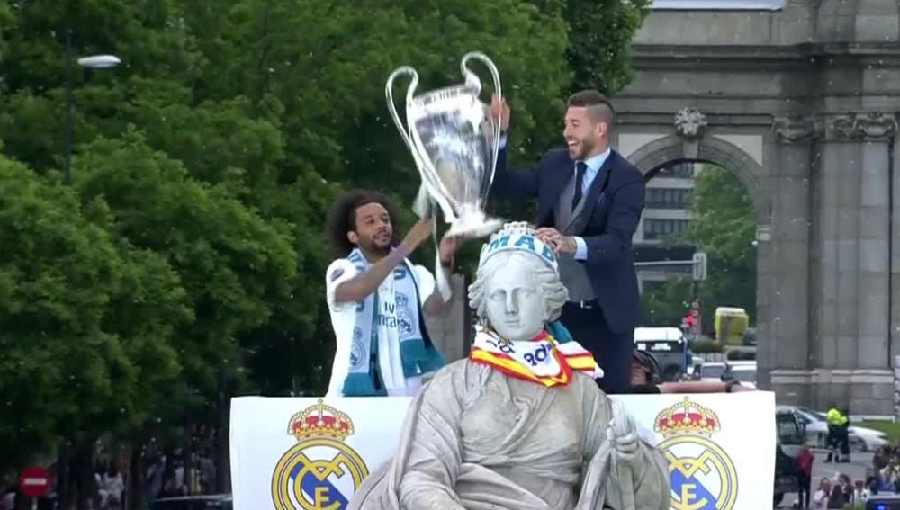 Marcelo y Ramos, en la Cibeles
