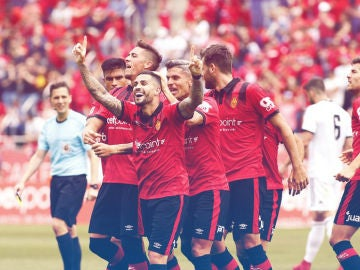 El Mallorca celebra un gol