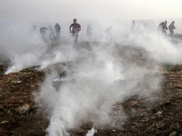 Gas lanzado por el ejército israelí en la Franja de Gaza