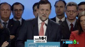 Mariano Rajoy en 2009