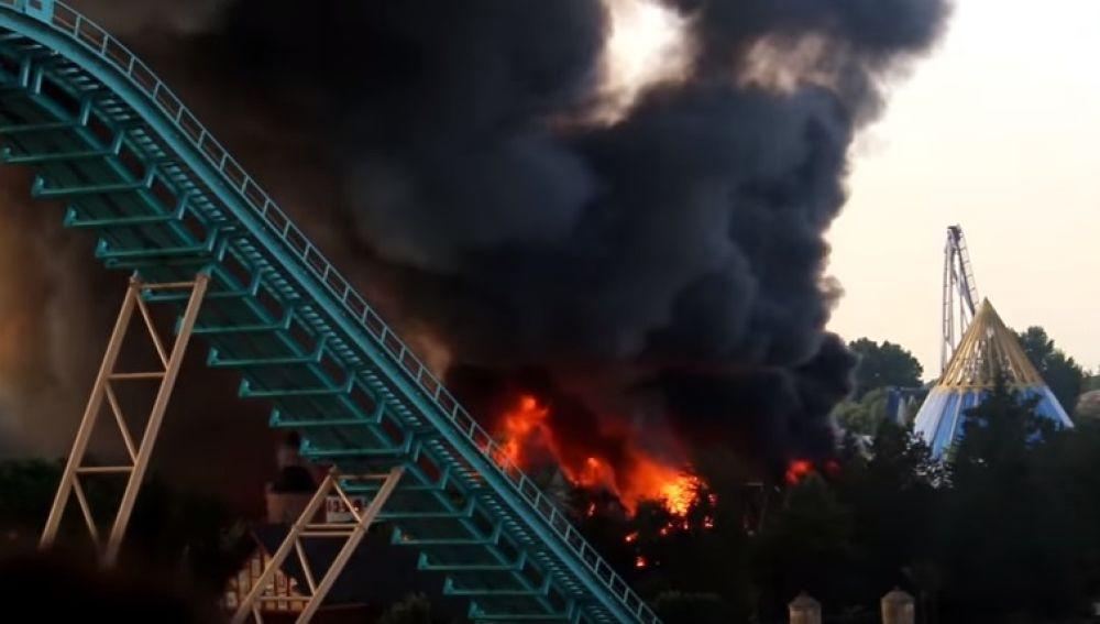 Incendio en el parque de atracciones más grande de Alemania