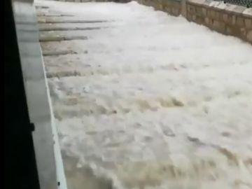 Inundación provocada por las fuertes tormentas