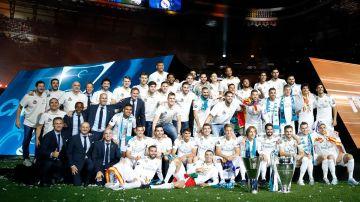 Las plantillas de fútbol y baloncesto del Real Madrid, juntas en Europa