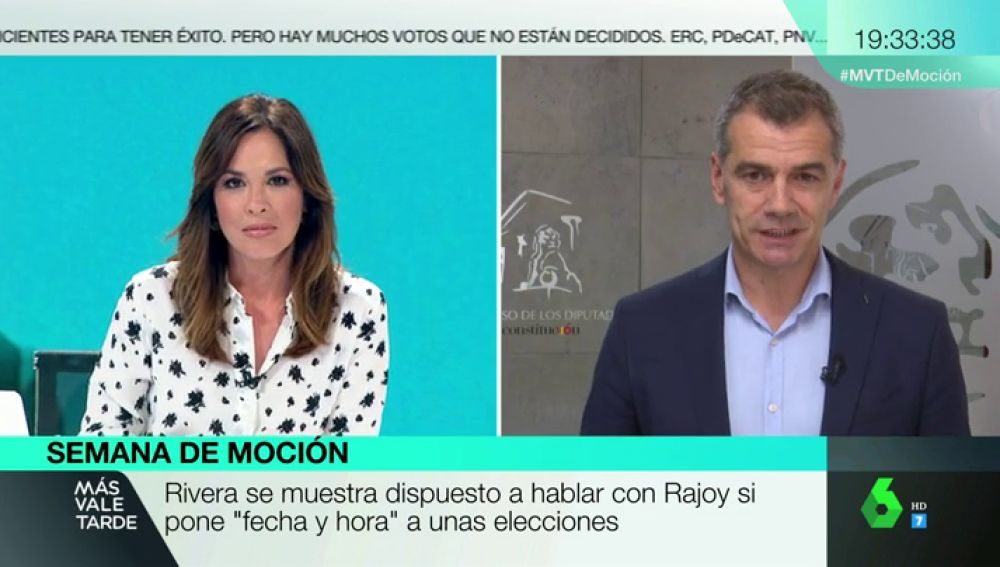 """Toni Cantó, sobre las exigencias de Cs en la moción de censura: """"mantener el 155, aprobar los PGE e ir a elecciones"""""""