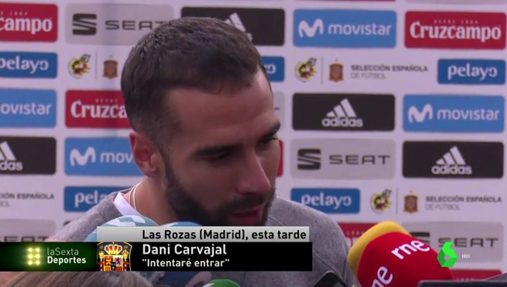 """Dani Carvajal, sobre su lesión: """"Gracias a Dios, ha sido menos de lo que yo me pensaba"""""""