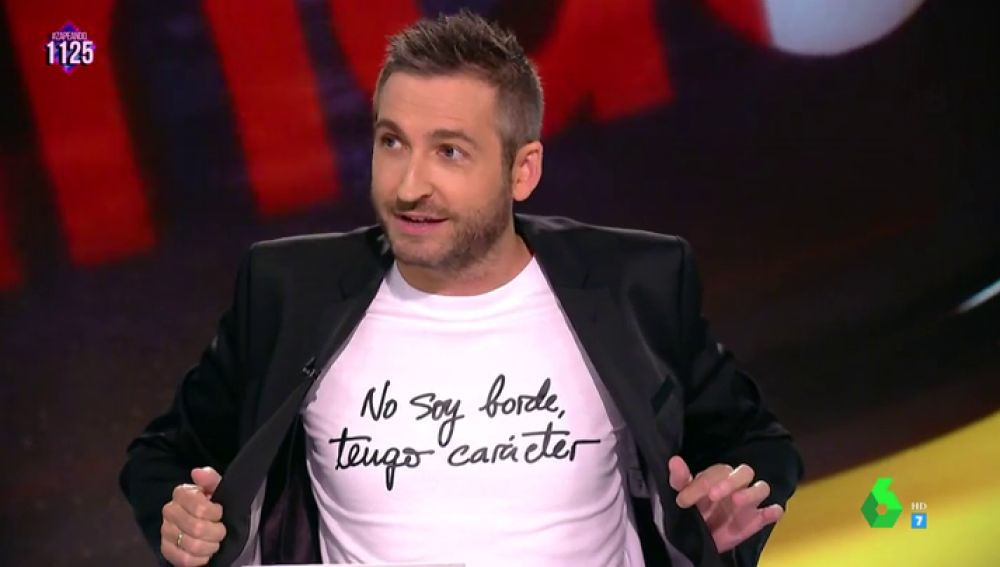 """""""No soy borde, tengo carácter""""; el mensaje de la camiseta de Frank Blanco que 'alborota' a los zapeadores"""