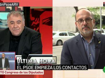 """Carles Campuzano: """"Tenemos una posición clara, nos presentamos con la propuesta de echar a Rajoy"""""""