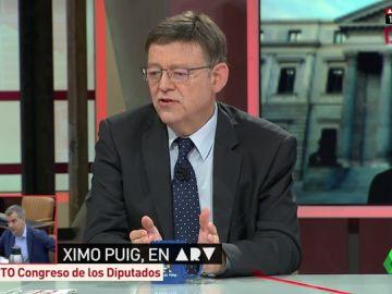 """Ximo Puig asegura que """"todo el PSOE"""" apoya la moción de censura y que no habrá """"ningún acuerdo fuera del marco constitucional"""""""