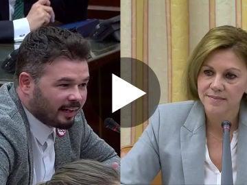 Rifirrafe entre Gabriel Rufián y Dolores de Cospedal en el Congreso