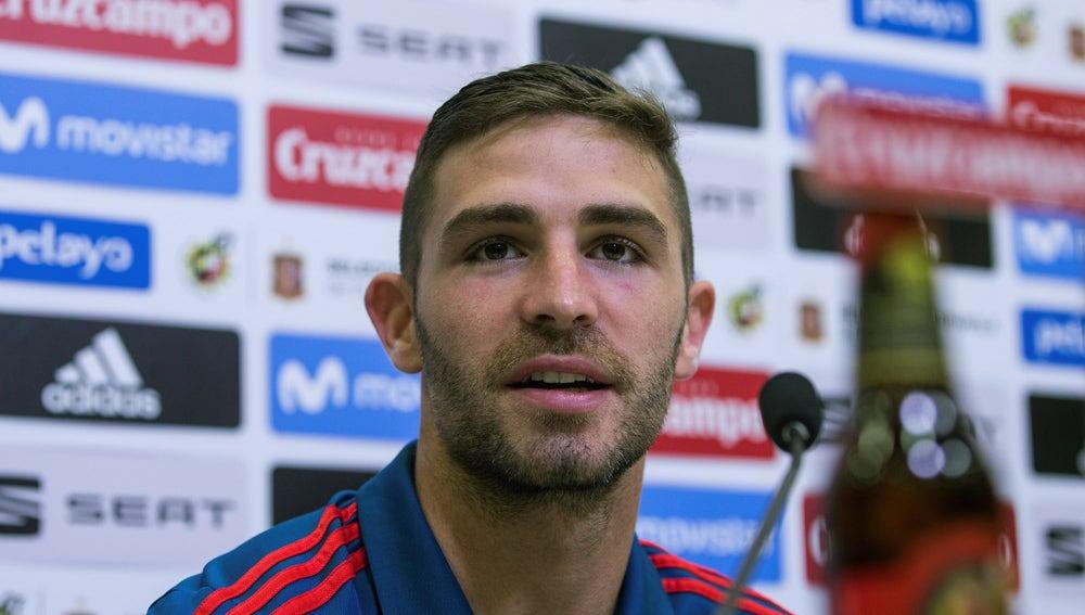 Yeray Álvarez, en sala de prensa
