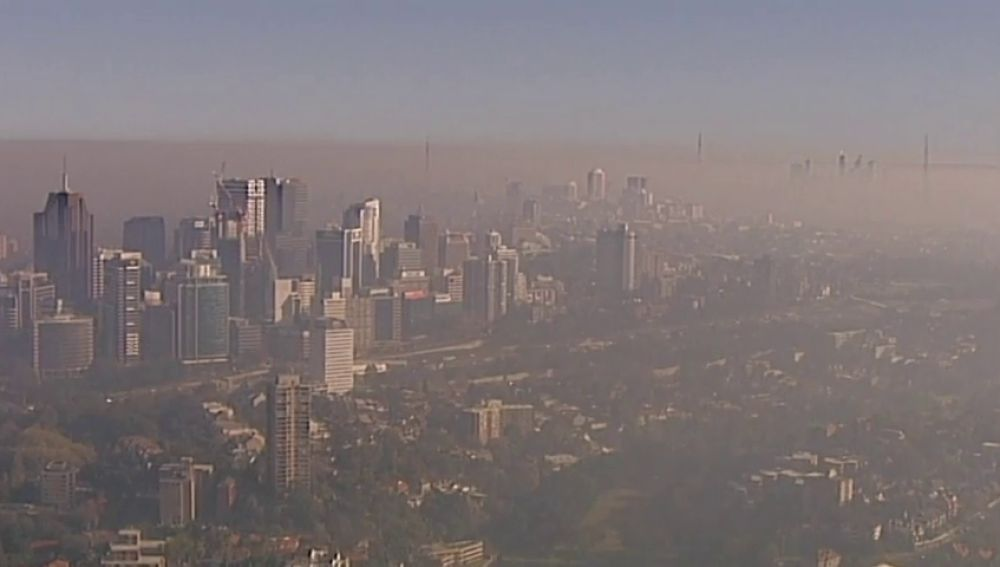 Alerta en Sídney por los niveles de contaminación: un denso manto de humo cubre la ciudad