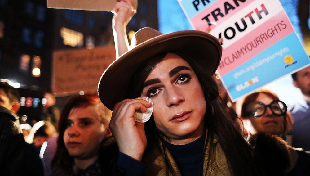 Manifestación transgénero contra Donald Trump