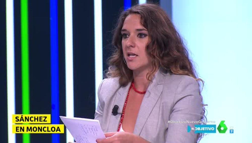 La portavoz del Consejo de Coordinación de Podemos Noelia Vera