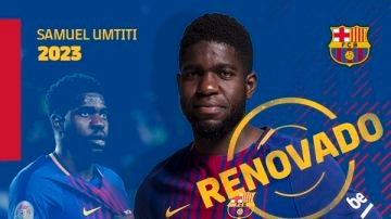 Umtiti renueva con el Barcelona