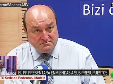 """<p>Ortuzar responde al PP por su """"venganza"""" en los presupuestos: """"El cachetazo se lo pegan a la sociedad. No es inteligente""""</p>"""