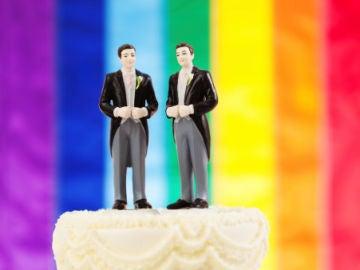 Tarta de boda para una pareja gay