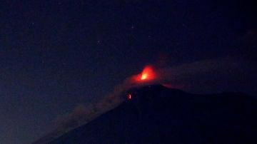 Vista del Volcán de Fuego de Guatemala