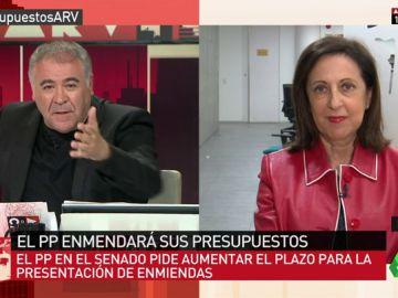 """<p>Margarita Robles, sobre la actitud del PP con los Presupuestos: """"Es pura venganza y una falta de respeto al país""""</p>"""