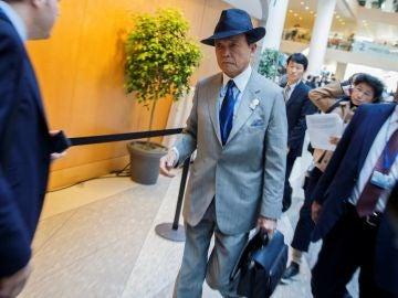 El ministro de Finanzas japonés, Taro Aso.