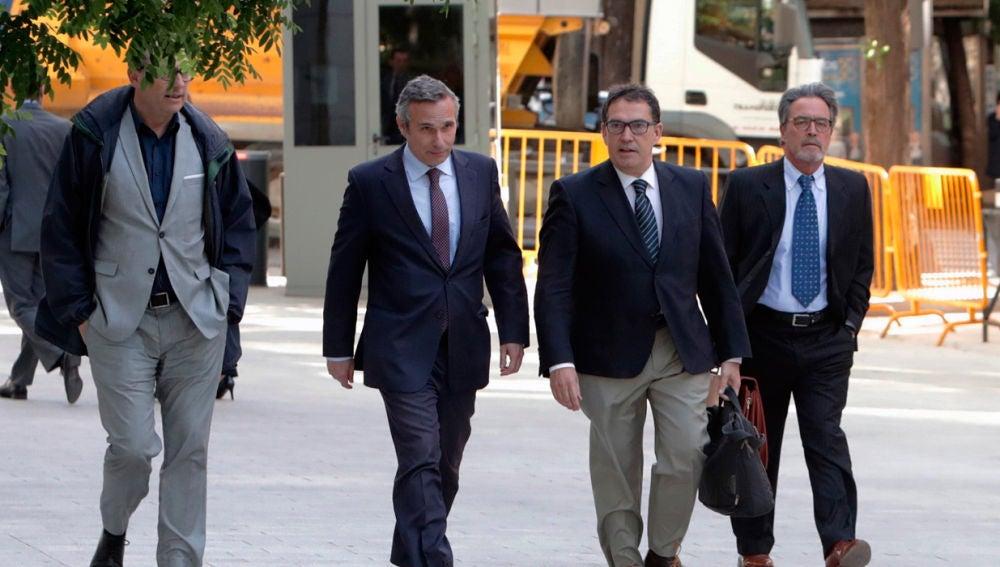 El historiador Josep Lluis Alay, a su llega a la Audiencia Nacional