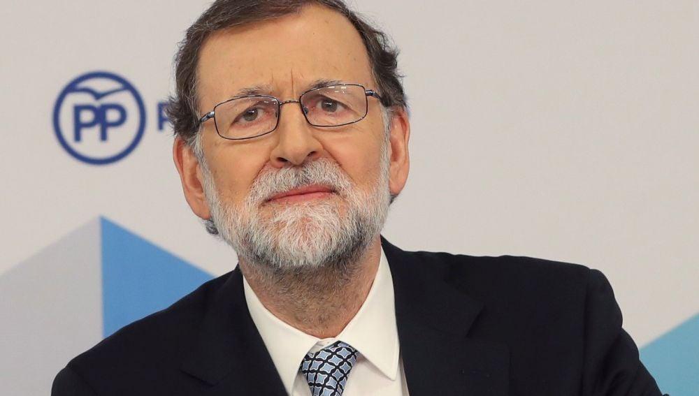 Mariano Rajoy durante el Comité Ejecutivo Nacional del PP
