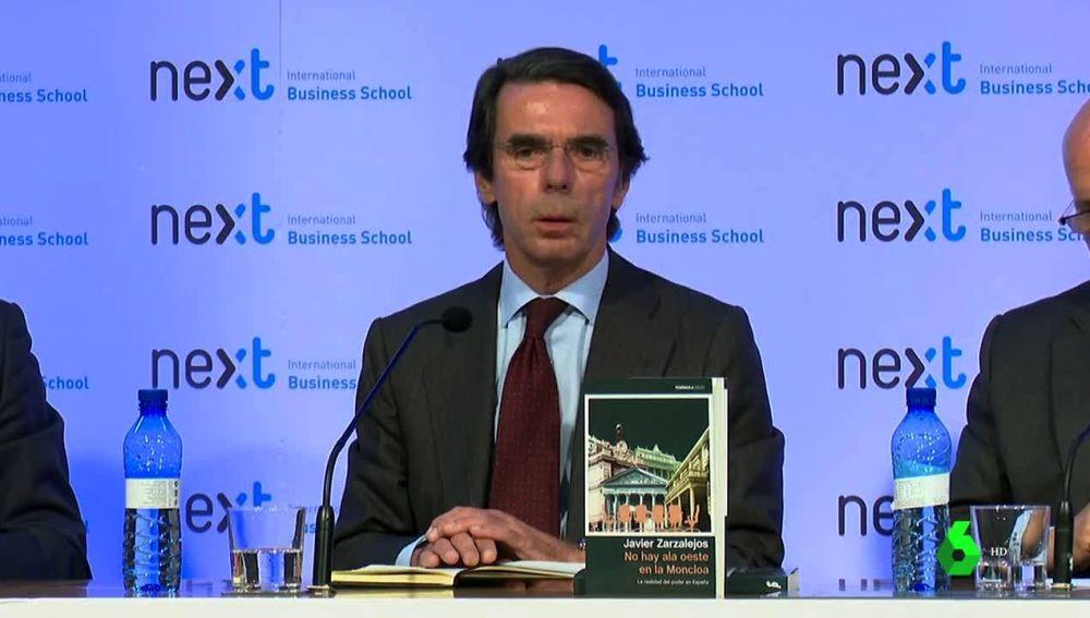 José María Aznar reaparece en público