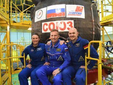 Astronautas preparados para poner rumbo a la Estación Espacial Internacional