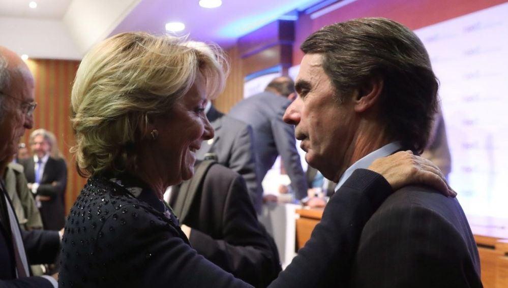 Esperanza Aguirre con José María Aznar