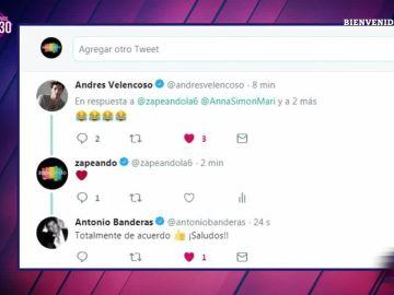 La respuesta de Antonio Banderas y Andres Velencoso a la sugerencia de Zapeando de ser ministros del nuevo Gobierno