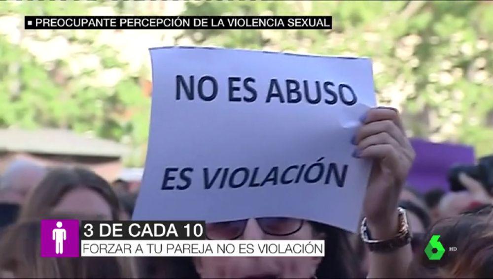 3 de cada 10 hombres creen que forzar a la pareja no es violación