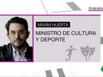 "<p>laSexta habla con Màxim Huerta tras ser elegido ministro: ""Con orgullo de que vuelva Cultura por fin""</p>"