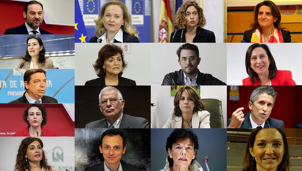 Los 17 ministros del Gobierno de Pedro Sánchez