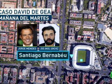 <p>Reunión entre Jorge Mendes y el Real Madrid por el futuro de De Gea</p>