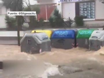 Consecuencias de las tormentas en Sitges