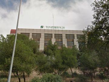 Fachada de la empresa Funeraria de Madrid y Tanatorio M30