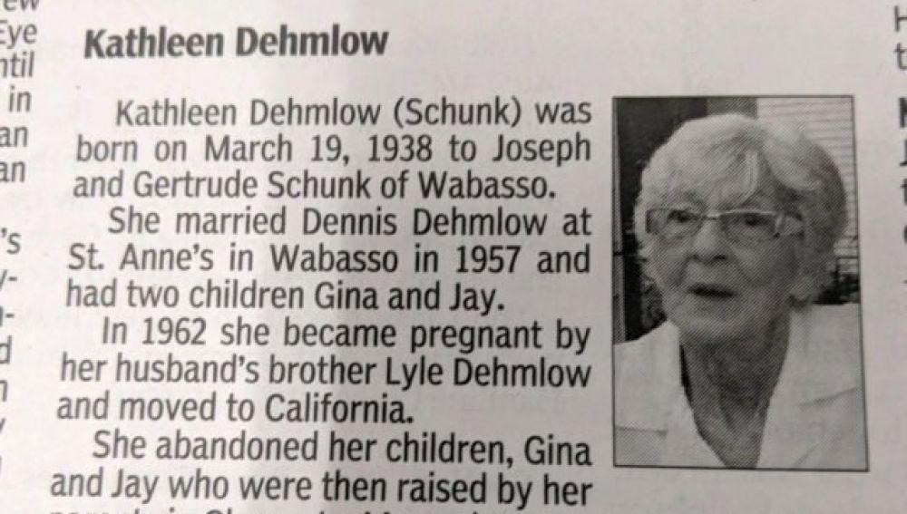 El polémico obituario