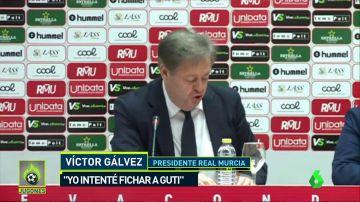 "Presidente del Real Murcia: "" ""Intenté fichar a Guti, pero salió lo de Zidane"""