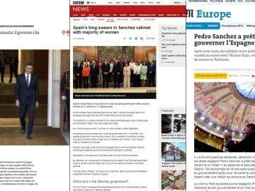 Las portadas internacionales hablando de Pedro Sánchez