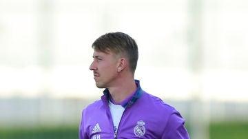 José María Gutiérrez 'Guti', entrenando al Real Madrid en un partido de la 'Youth League'