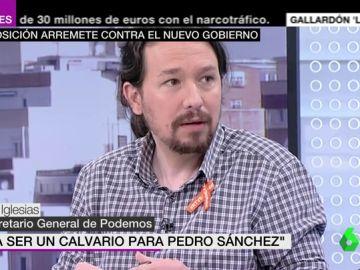 """Pablo Iglesias critica el Gobierno """"débil"""" y con ministros """"que gustan"""" a PP y Ciudadanos y augura a Sánchez """"un calvario"""""""