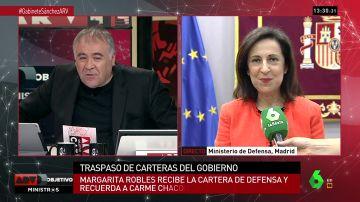 """<p>Margarita Robles, ministra de Defensa: """"Gracias al CNI ha habido una victoria en la lucha antiterrorista y ante muchas amenazas""""</p>"""