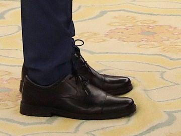 Detalle de los zapatos de Màxim Huerta, ministro de Cultura y Deportes