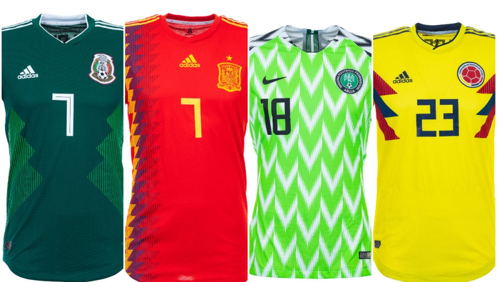 6c0a5ca940e94 Las 32 camisetas de las selecciones en el Mundial de Rusia 2018