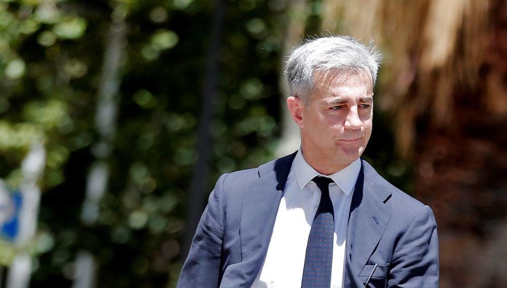 Ricardo Costa, a su llegada a la Ciudad de la Justicia de Valencia