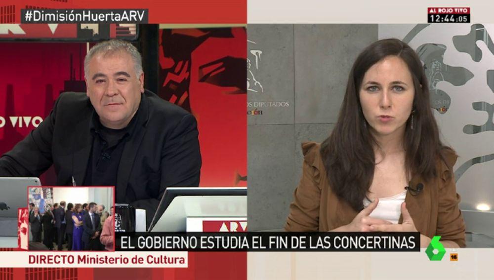 """Ione Belarra: """"El caso de Màxim Huerta no es el mismo que el de Monedero, él no tuvo intención de defraudar a Hacienda"""""""
