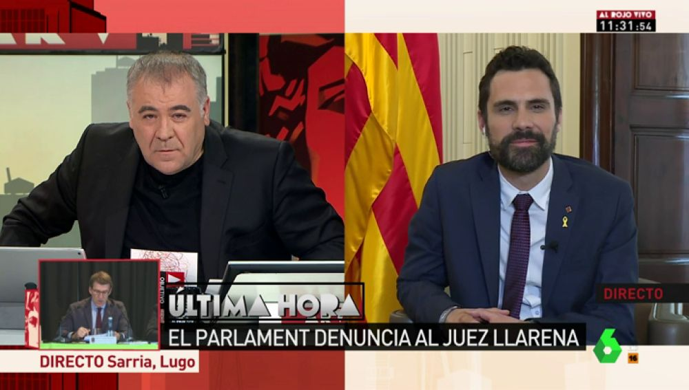 """Roger Torrent justifica la denuncia a Llarena para defender a los diputados del Parlament ante la """"politización de los tribunales"""""""