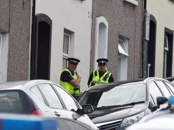 Imagen de archivo de policías en el Reino Unido