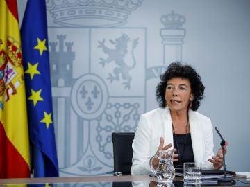 La ministra de Educación, FP y Portavocía del gobierno Isabel Celaá