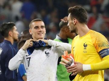 Griezmann y Lloris hablan tras un partido de Francia
