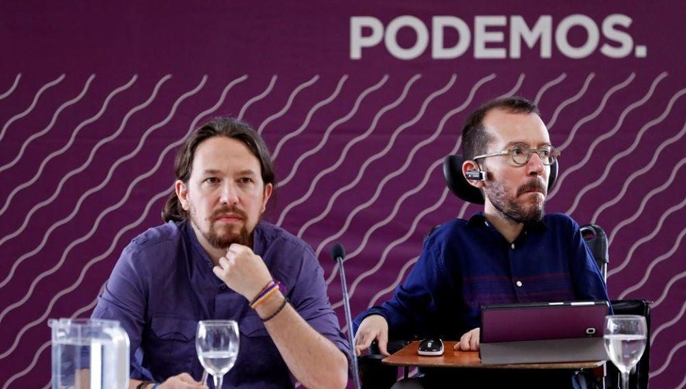 Pablo Iglesias y Pablo Echenique en el Consejo Ciudadano de Podemos